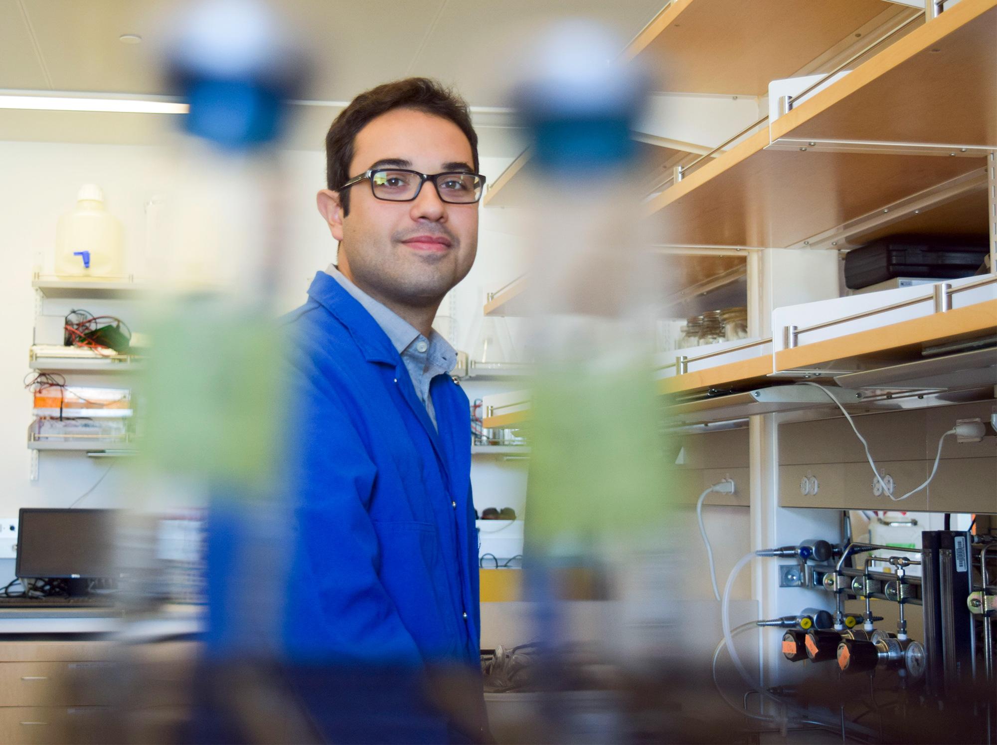 A researcher in a lab